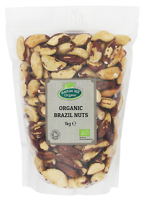 Organic Whole Brazil Nuts 1kg Certified Organic