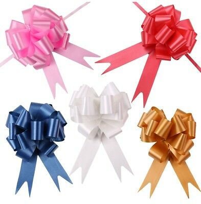 30mm Pull Pom Pom Bows Wedding Ribbon Party Car Flower Gift Wrap Floristry Decor