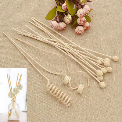 10 Pcs Fragrance Diffuser Rattan Reed Sticks Bathrooms Decor Replacement Refill
