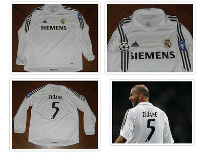 ZIDANE REAL MADRID maglia shirt jersey trikot maillot MATCH ISSUED FRANCE JUVE