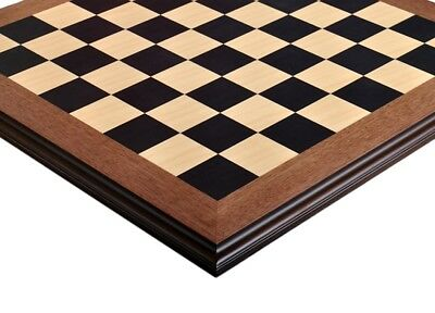 """Blackwood & Maple Superior Traditional Chess Board - 2.25"""""""