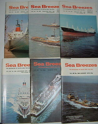 Sea Breezes Merchant Shipping Magazines 1974 – 1979 Individual Issues
