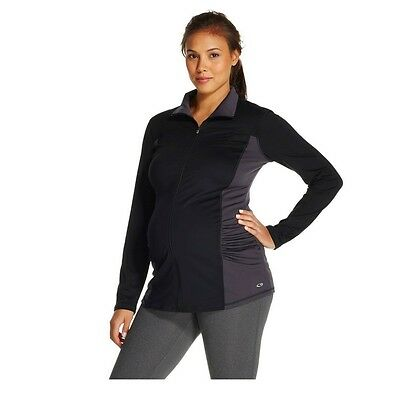 Champion C9 Women's Maternity Zip-Up Performance Jacket - Black Gray