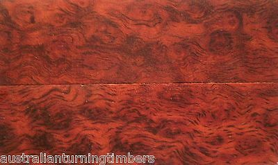 Rare Bookmatched Birdseye Australian Red Gum Wood Knife Scales