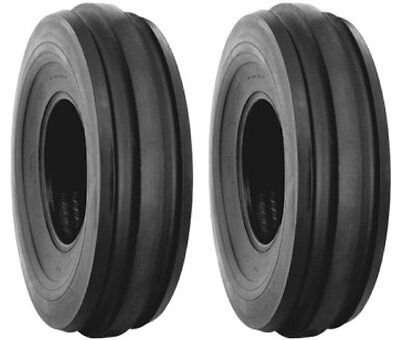 (2)600-16 6 ply H/K 3 rib 60016  front tractor tire AND (2) TUBES 60016 600X16