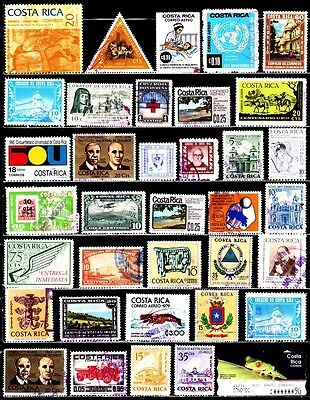 Very Nice Costa Rica Stamps Collections lot (used)