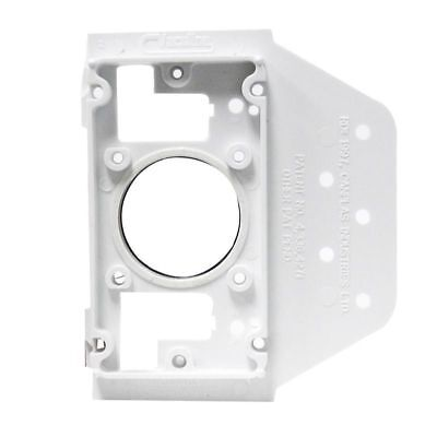 4 X Ducted Vacuum Wall Mounting Plate With Plastic Flange For A Diy Installation