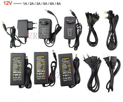 AC100-245V To DC 12V/24V 2A-10A Power Supply Adapter Driver Switch For strip