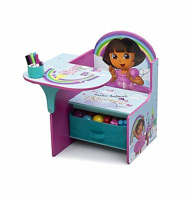 Dora Explorer Kids Desk/Chair/Table Set Children Play Furniture/Toy Storage Bin  sc 1 st  PicClick & DORA CHAIR DESK Kids Study Table Storage Bin Furniture Activity Set ...
