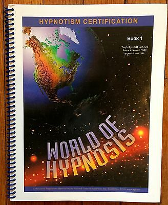 WORLD OF HYPNOSIS Book 1 Hypnotism Certification NGH National Guild Hypnotists