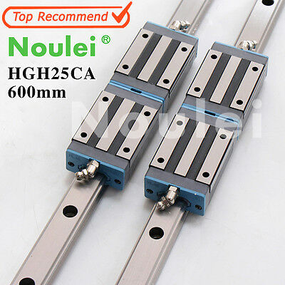 Noulei Linear guide rail HGR25 600mm With HGH25CA slide Block