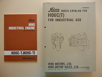 HINO H06C(T) PARTS CATALOG and OPERATION HANDBOOK AS NEW