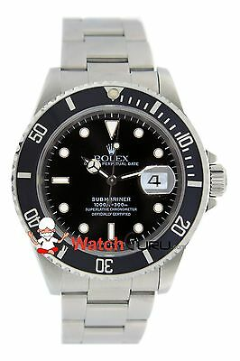 Rolex Submariner Date 16610 40mm Black Dial Oyster Perpetual Watch