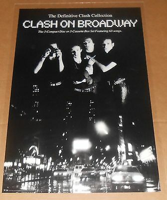 The Clash on Broadway Poster 1991 Original Promo 36x24 RARE