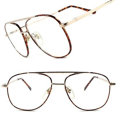 Classic Vintage Retro Old 80's Mens Womens Clear Lens Eye Glasses Square Frame