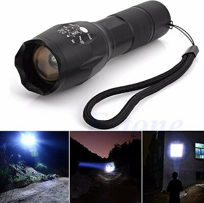 Zoomable 5000Lumen 5 Modes XML T6 LED Flashlight Torch Lamp Light 18650 Powerful