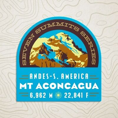 Mt. Aconcagua Seven Summits Decal Sticker