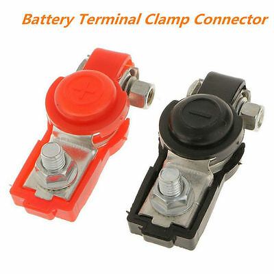 2pcs Car /Truck Battery Terminal Clamp Set Positive & Negative Connector Charge