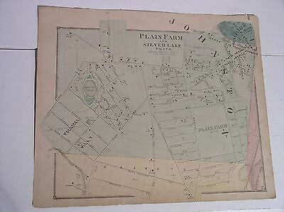 1870 Beers Johnston Providence Silver Lake Rhode Island Map