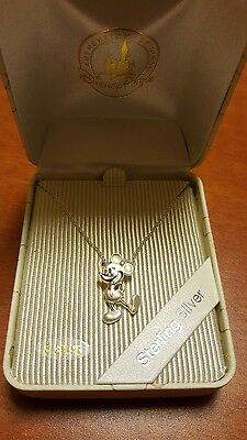 Disney Parks Sterling Silver Mickey Mouse necklace with chain (brand new)