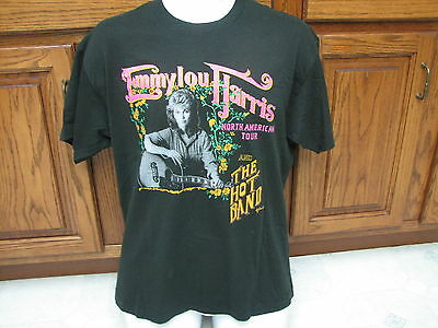 Emmylou Harris & the Hot band 1988 concert tour t shirt retro vintage Country