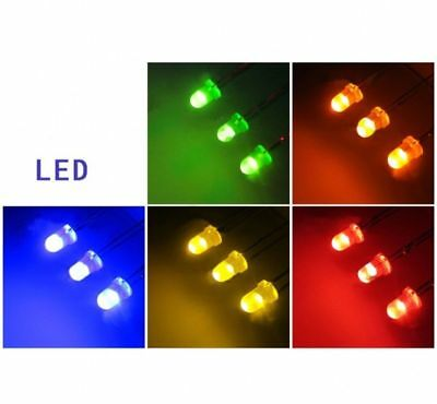 Ultra Bright LEDs 3mm Red/Blue/Green/White/Yellow Lamp Emitting Diode - Free P&P