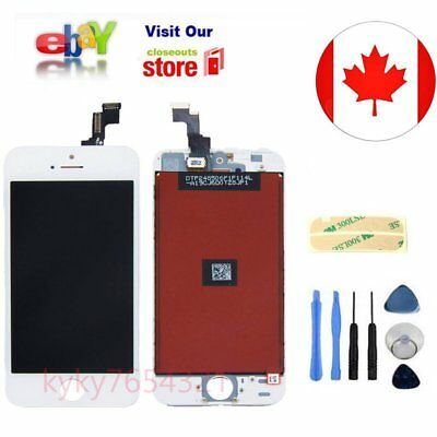 White LCD Lens Touch Screen Digitizer Assembly Replacement for iPhone 5S CA