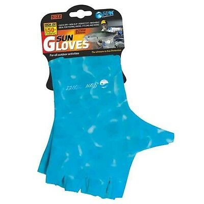 Sun Gloves 50+ UPF Protection (Water Blue)