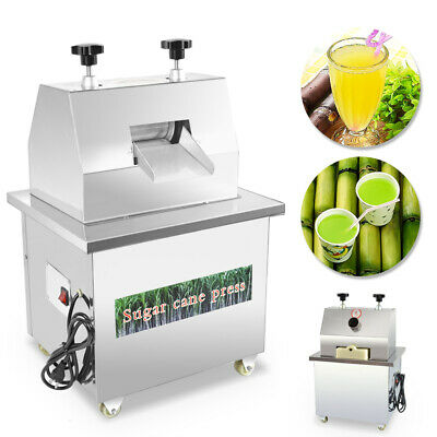 New 110V Juicer Stainless Steel Desktop Electric Sugarcane Ginger Press