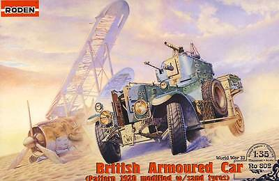 Cutting down trees British Armored car Pattern 1920 sand wheels modified w/sand