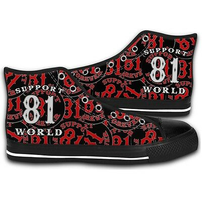 Canvas Hells Angels Big Red Machine Support81 Fashion Shoes