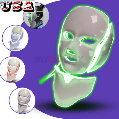 Facial Skin Rejuvenation 7 Color LED Photon Facial Neck Mask Machine Anti Aging