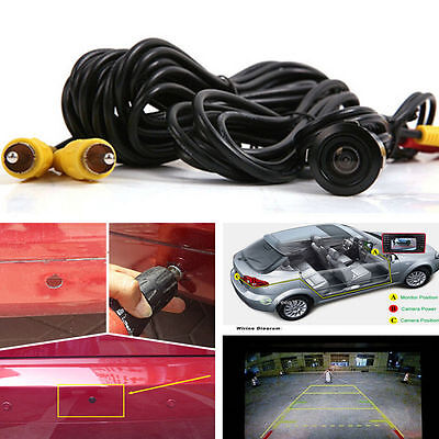Car Reversing Rear View Camera Backup Parking NIght Vision 18.5mm 170°Wide Angle