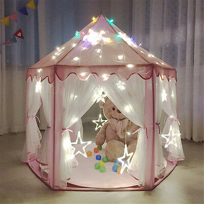 Girls Pink Princess Castle Playhouse Children Kids Play Tent Outdoor Indoor Toys
