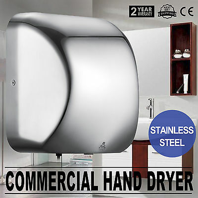 Commercial Grade Bathroom Wall Mounted Automatic Hand Dryer - Powerful 1800w