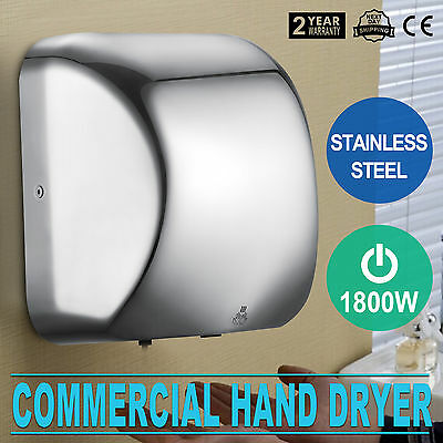 Automatic Electric Hand Dryer 1800W High Speed Adjustable Speed Fast Drying
