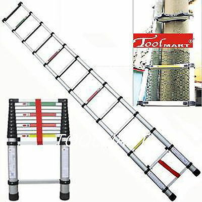 12.5ft 3.8m Folding Aluminum Telescopic Step LadderFixed Padded U telegraph pole