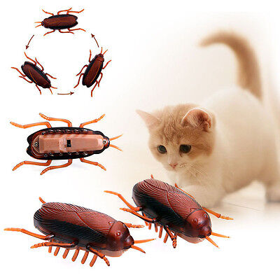 1x Funny Electronic Cockroach Pet Cat Dog Kiten Interactive Training Play Toy