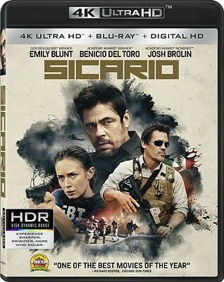 Sicario (2016, Blu-ray NEUF)2 DISC SET