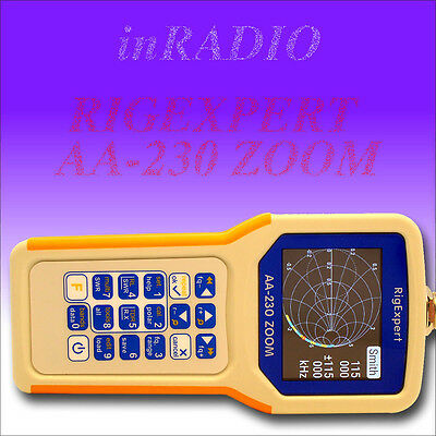 RigExpert AA-230 ZOOM antenna analyzer 0.1-230MHz +FAST DELIVERY AA230 analyser