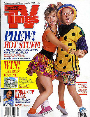Tv Times Magazine 6/7/90 Timmy Mallet & Michaela Strachan, Brian Moore