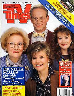 Tv Times Magazine 26/1/90 Prunela Scales, Jane Asher, Steven Berkoff,