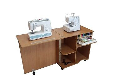 Sewing Machine Cabinet Table Comfort Compact Hobby Handwork Variations Of Colour