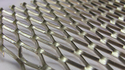 Aluminum Expanded Twisted Metal Sheet .125 x 5.375 x 48 in. Mesh .5 x 1.2 in.