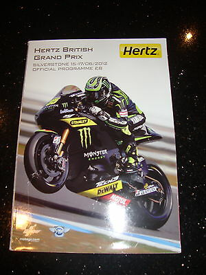 Official Moto Gp Programme - British 2012 - Signed By Rossi, Stoner, Lorenzo +++