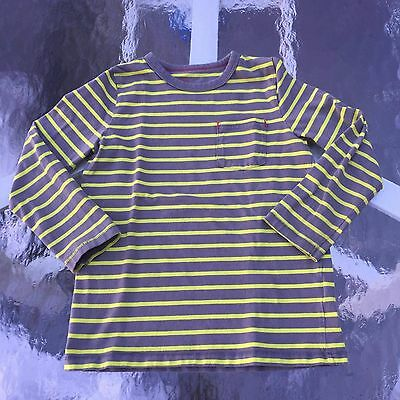 MINI BODEN Boy's AWESOME STRIPED Long sleeve shirt. 5-6 years GOOD!! WOW!