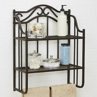 💗 CHAPTER BATHROOM Storage Wall Shelf Oil-Rubbed Bronze Finish ...