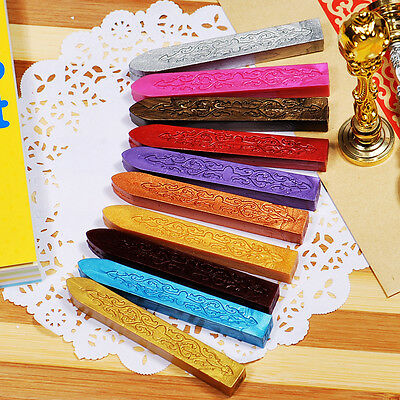 5x Sealing Seal Wax Melting Stick Envelope Wedding Invitation Party Stamp Letter