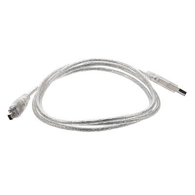 1.4 M USB 2.0 to IEEE 1394 Firewire 4 Pin Extension Cable for Digital Camera FK