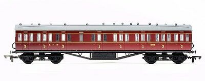 Dapol 4P-010-003 Personenwagen 57ft Stanier compartment LMS lined maroon Spur 00